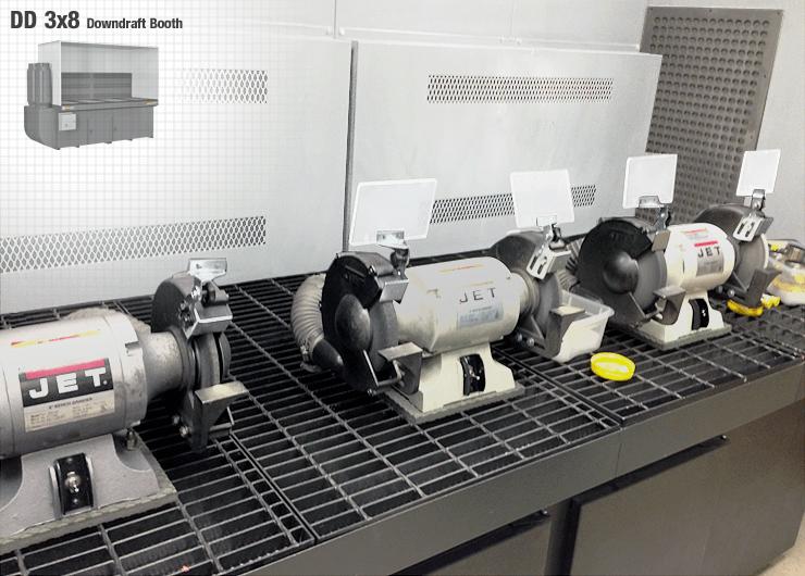 Deburring Belt Sanding Amp Bench Grinding Downdraft Tables