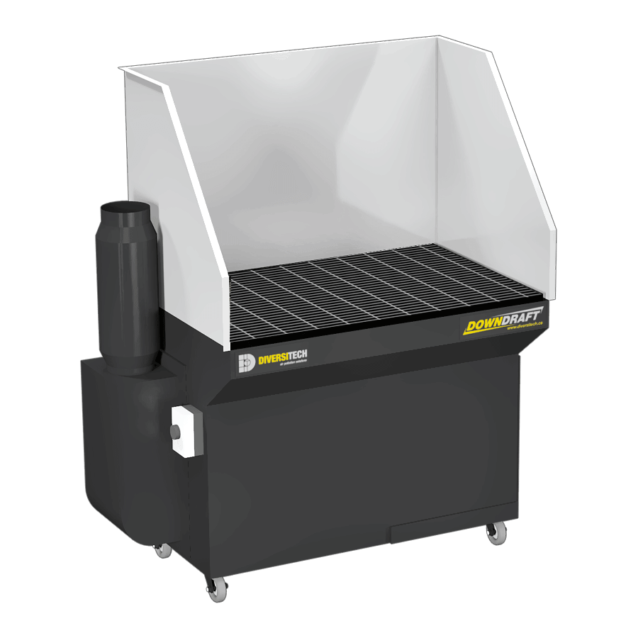 DD-2X4 3HP Downdraft Table with Welding, Grinding, and Deburring Kit