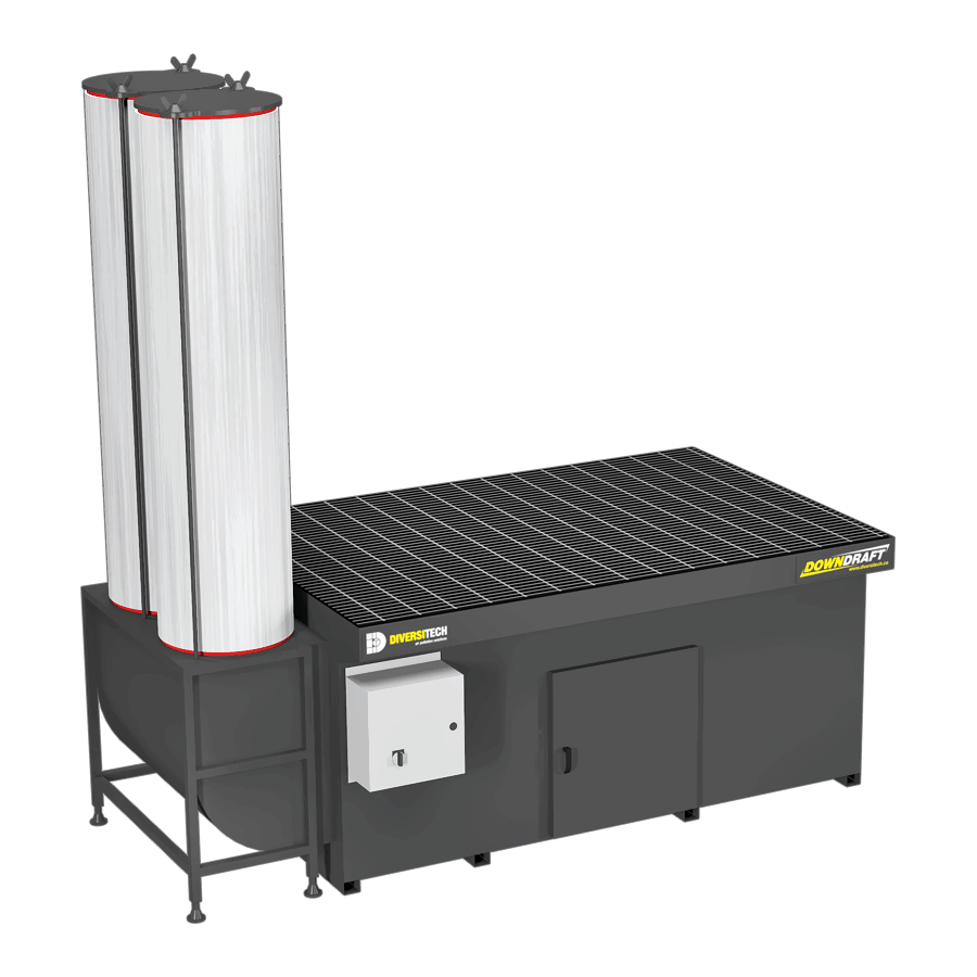 Dual-sided 4X6 Downdraft Table for Volatile Organic Compounds (VOCs)