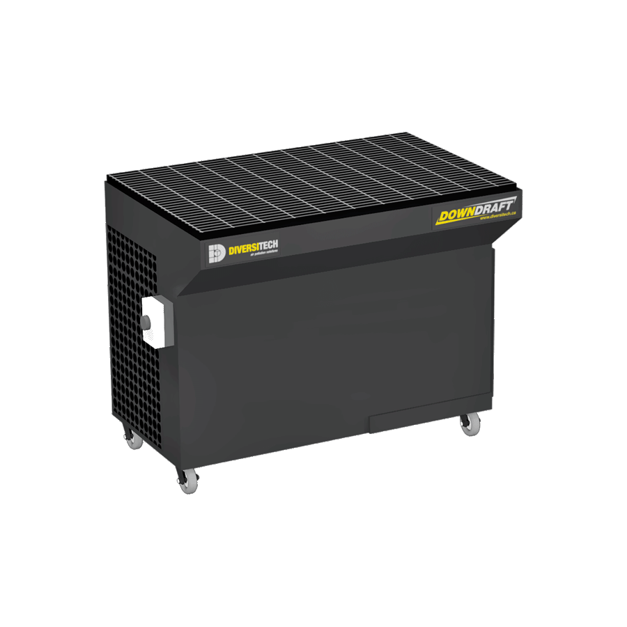 Portable Downdraft Bench : Portable downdraft tables for industrial applications