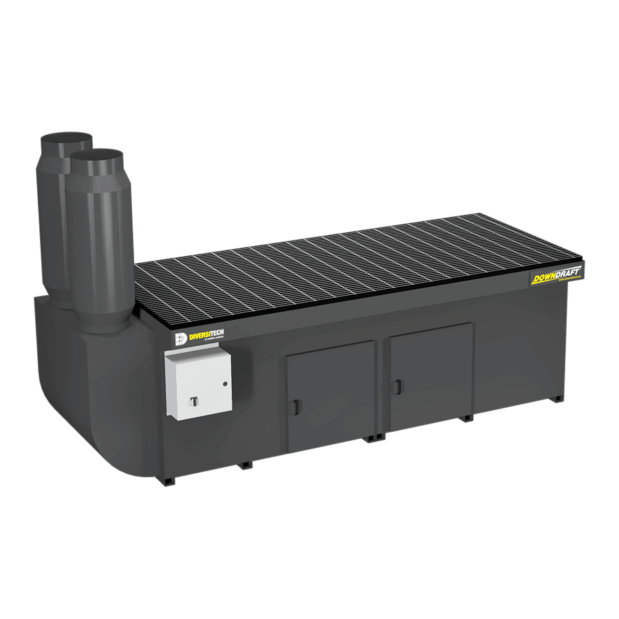 DD-3X8 Base Downdraft Table, Portable (Three Phase)
