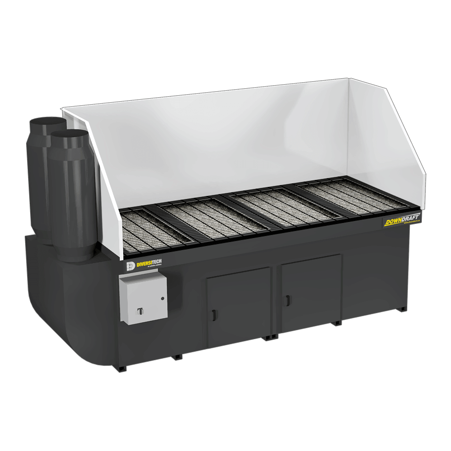3X8 Downdraft Table for Plasma and Oxy Cutting 6300 CFM ...