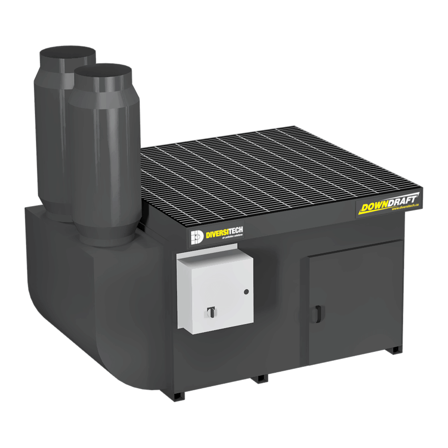 DD-4X4 Base Downdraft Table, Portable (Three Phase)