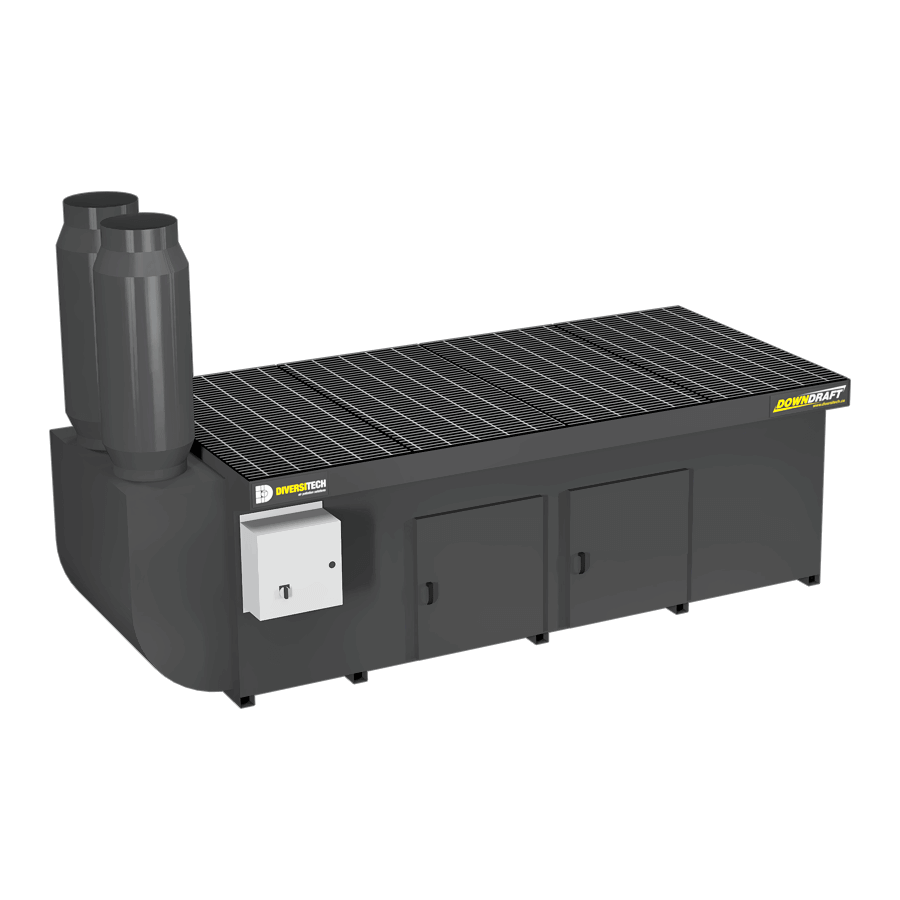 DD-4X8 Base Downdraft Table, Portable (Three Phase)