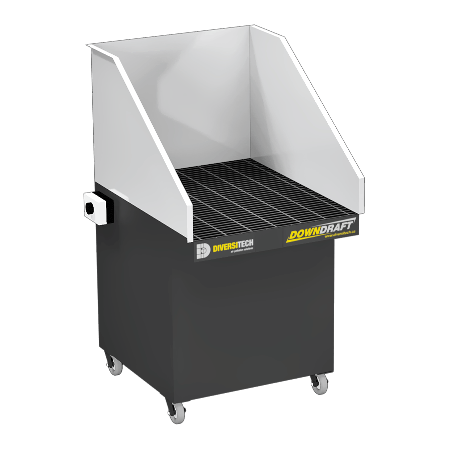DD-Mini Downdraft Table with Welding, Grinding, and Deburring Kit