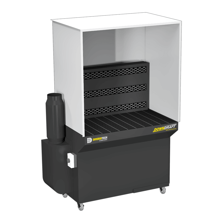 Portable Downdraft Bench : Downdraft booths for industrial use diversitech