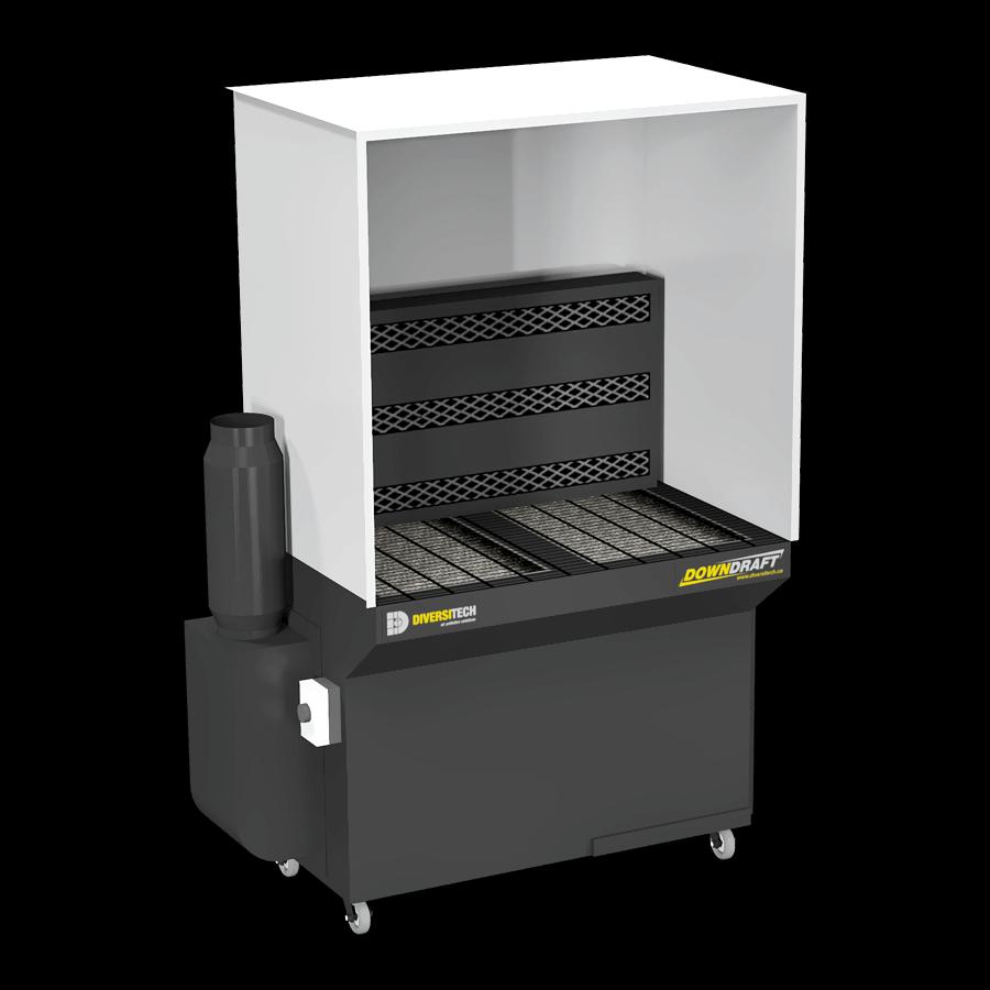 2 X 4 Downdraft Booth Pla 2600cfm Diversitech Downdraft