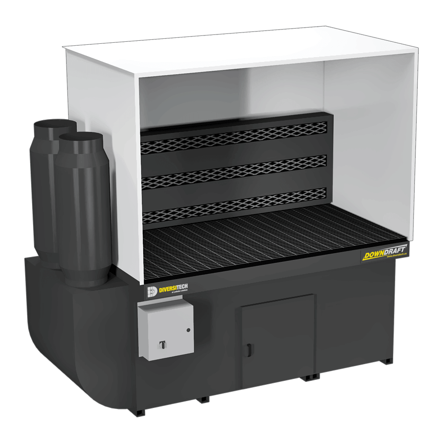 DBB-3X6 Downdraft Booth with Welding, Grinding, and Deburring Kit