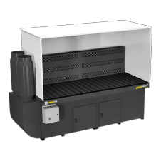 DBB-3X8 Downdraft Booth with Welding, Grinding, and Deburring Kit